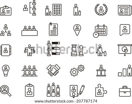 Business, Human Resources & Management icons set