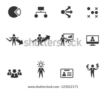 Business icon series in single color style