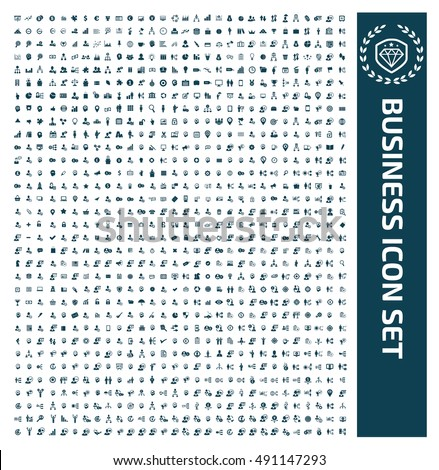 Business icon set,clean vector