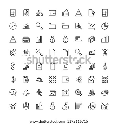 Business icon set. Collection of high quality black outline logo for web site design and mobile apps. Vector illustration on a white background.