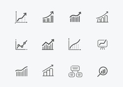 Business icon set. Elements for website or mobile app