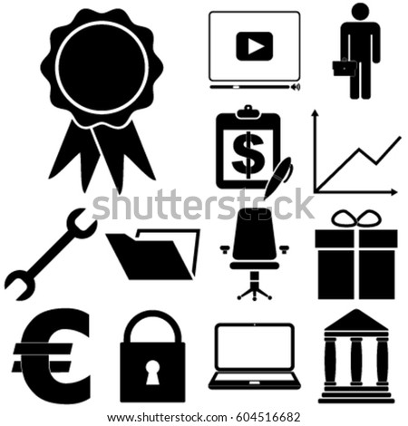 business icon set 13 icons