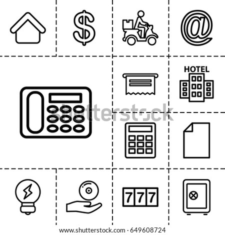 business icon set of 13