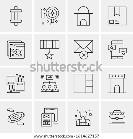 business icon set 16 universal
