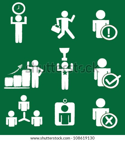 Business icon set,Vector