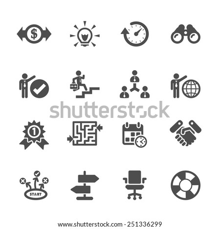 business icon set  vector eps10