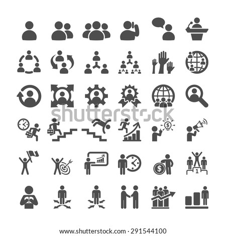 business icon set, vector eps10.
