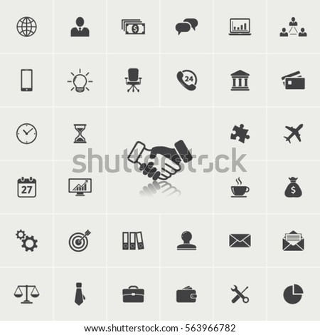 Business icon set.Vector illustration