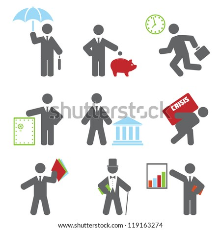 Business icon. Vector set for you design