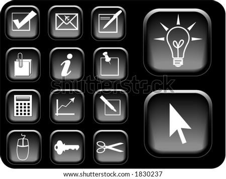 Business icon vectors.