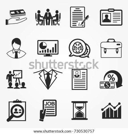 Business icons, business icons vector.