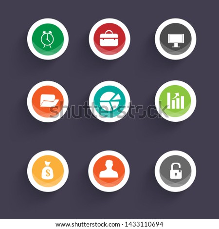 Business icons flat collection. Vector collection.