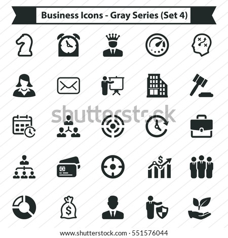 Business Icons - Gray Series (Set 4)