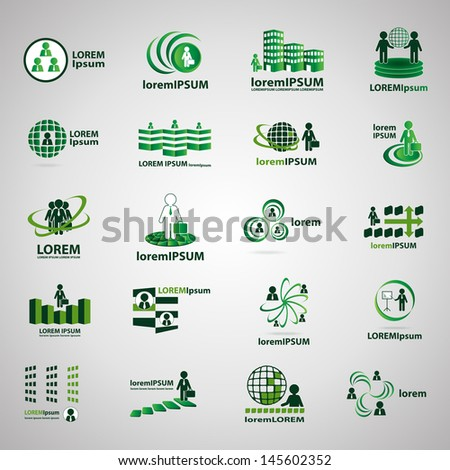Business Icons, Human Resources And Management - Set - Isolated On Gray Background - Vector Illustration, Graphic Design Editable For Your Design. Business Logo