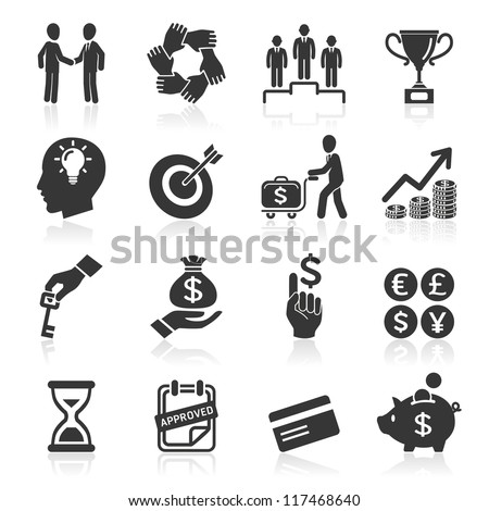 Business icons, management and human resources set6. vector eps 10. More icons in my portfolio.
