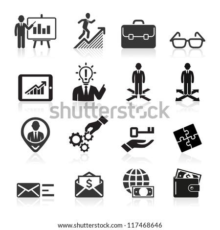 Business icons, management and human resources set5. vector eps 10. More icons in my portfolio.