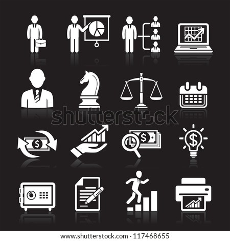 Business icons, management and human resources set2. vector eps 10. More icons in my portfolio.