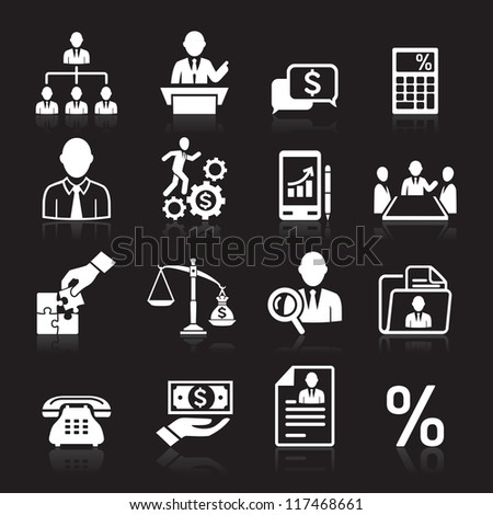 Business icons, management and human resources set3. vector eps 10. More icons in my portfolio.