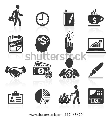 Business icons, management and human resources set4. vector eps 10. More icons in my portfolio.