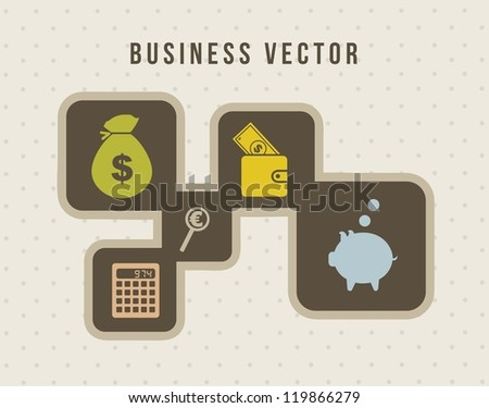 business icons over vintage background. vector illustration
