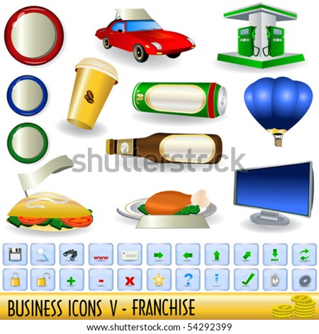 Business icons - part 5, franchise