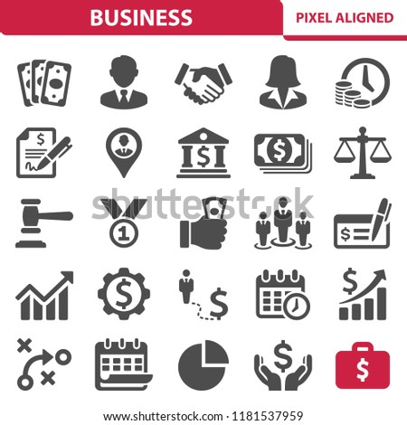 Business Icons. Professional, pixel perfect icons, EPS 10 format.