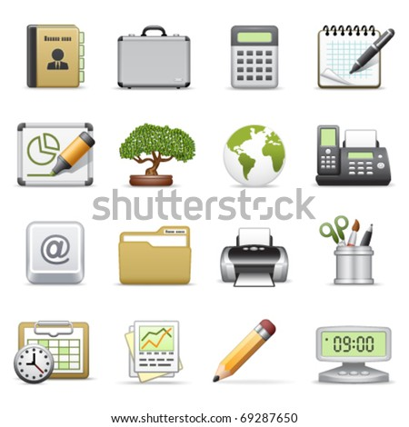Business icons, set 2.