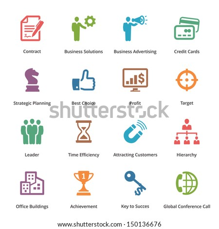Business Icons Set 2 - Colored Series