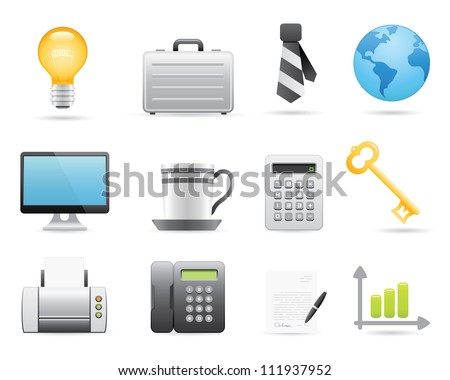Business Icons Set For Your Application Or Web Site