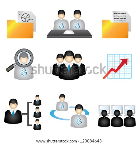 business icons set, human resource icons set