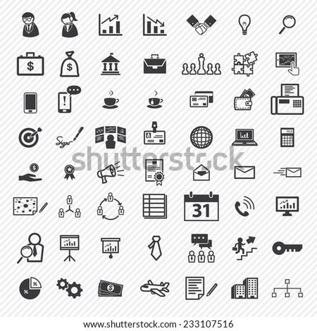 Business icons set. illustration eps10
