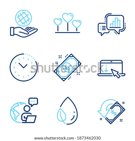 business icons set included