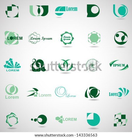 Business Icons Set - Isolated On Gray Background - Vector Illustration, Graphic Design Editable For Your Design. Business Logo