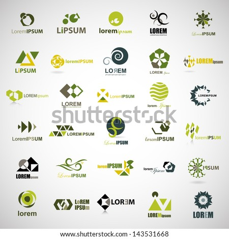 Business Icons Set - Isolated On Gray Background - Vector Illustration, Graphic Design Editable For Your Design. Unusual Flat Logo