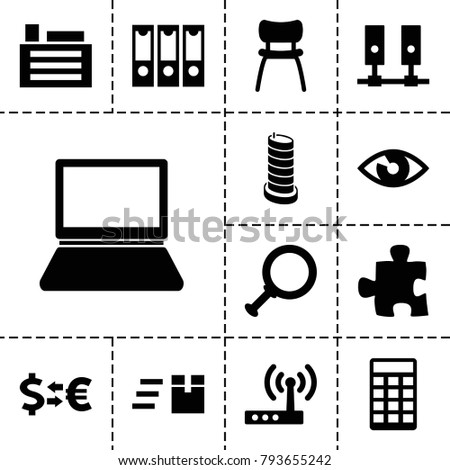 business icons set of 13