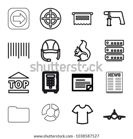 business icons set of 16