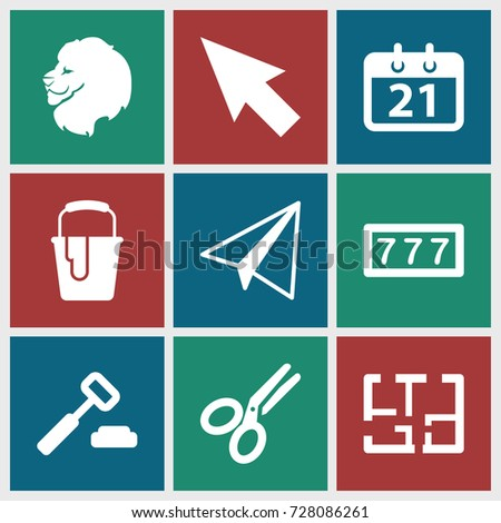 business icons set set of 9