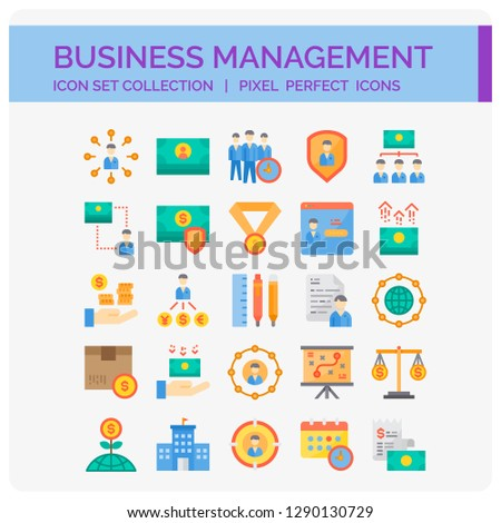Business Icons Set. UI Pixel Perfect Well-crafted Vector Thin Line Icons. The illustrations are a vector.
