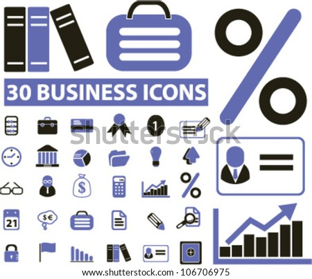 business icons set, vector