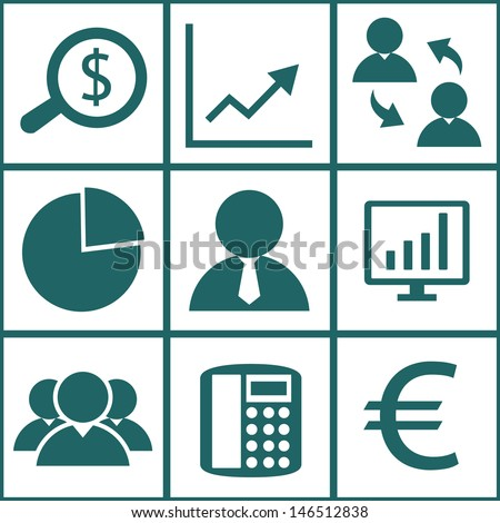 Business icons set.Vector EPS10