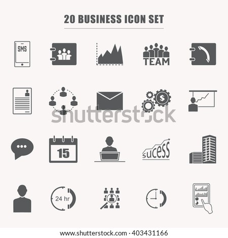 business icons, Vector illustration