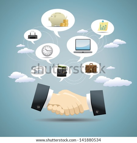 Business Idea Concept Design - stock vector