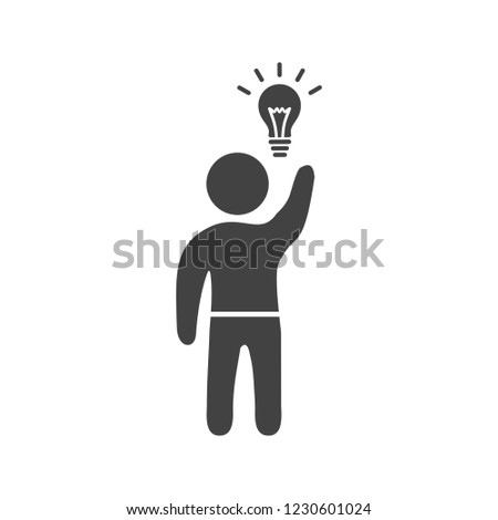 Business idea Glyph black icon
