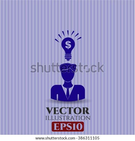 Business Idea icon vector illustration