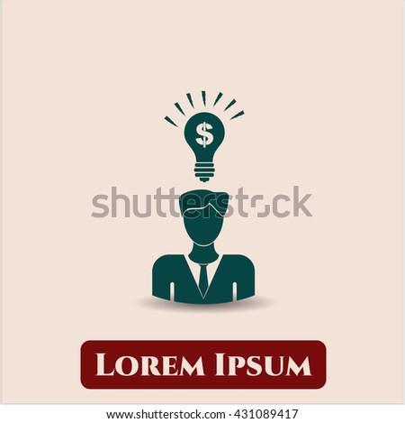 business idea icon vector symbol flat eps jpg app web