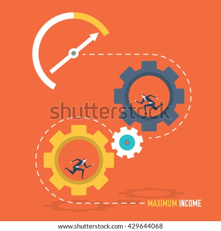 business illustration  maximum