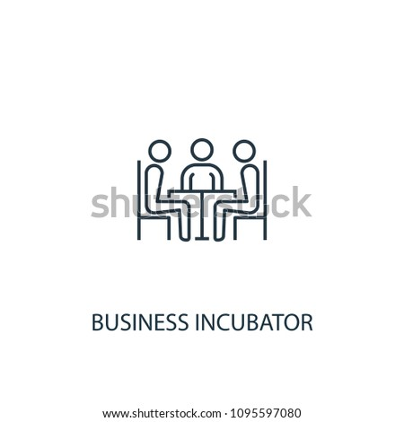 Business incubator line icon. Simple element illustration. Business incubator symbol design from Entrepreneurship collection. Can be used for web and mobile.