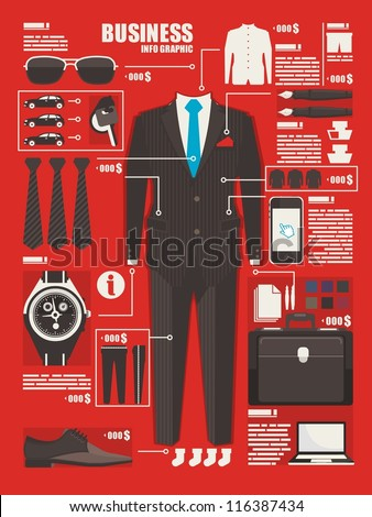 business info graphic background,clouting elements