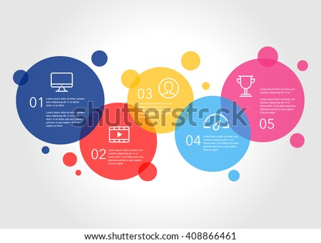 Business Info Graphics Illustration, Financial info graphics