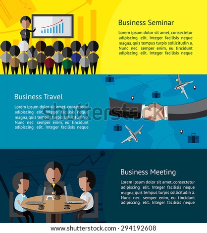 Business Infographic Activities Banner Of Businessman And ...